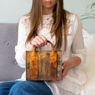 купить женскую кожаную сумку, сумка из натуральной кожи, дизайнерская сумка кожа, кожаная сумка с тонировкой, необычная кожаная сумка, mrsbag