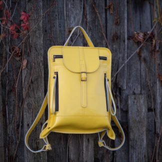 яркий кожаный женский рюкзак натуральная кожа клапан молния BONNIE купить
