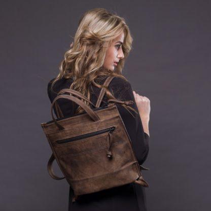 Женская кожаная Сумка-рюкзак купить натуральная кожа