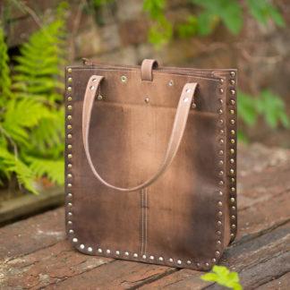 114 кожаная женская сумка-ПАКЕТ стразы натуральная кожа купить