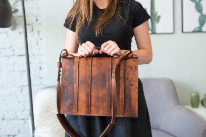 кожаный мужской женский потертый состаренный портфель  купить