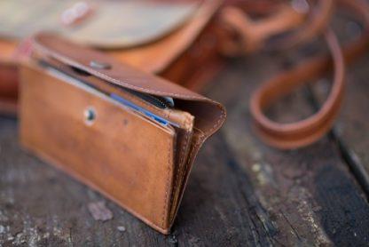 Большой кожаный кошелёк яркий цветной натуральная кожа купить