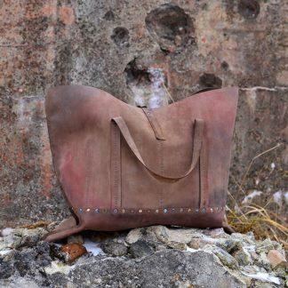 женская кожаная Сумка-шоппер №5 натуральная матовая кожа с тонировкой купить