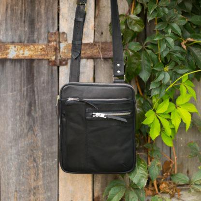 Мужская сумка через плечо натуральная кожа купить