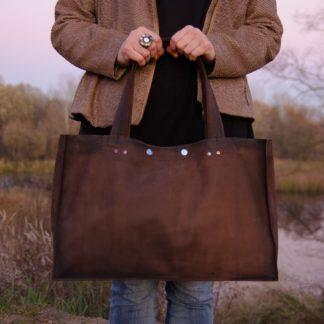 Кожаная женская Сумка-шоппер  из натуральной кожи купить