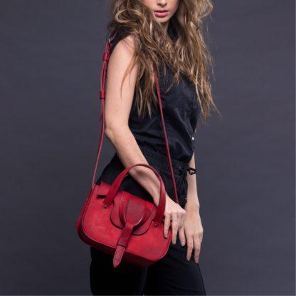 красная сумка, MYNA в красном сумка натуральная кожа купить