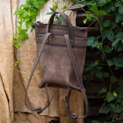 Сумка-рюкзак MACARON натуральная кожа купить