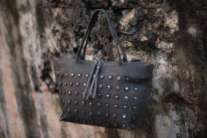 шоппер GORX/ZZ, купить сумка-шоппер, кожаный шоппер, женская кожаная сумка, большая сумка на молнии, яркая сумка из кожи, mrs.bag
