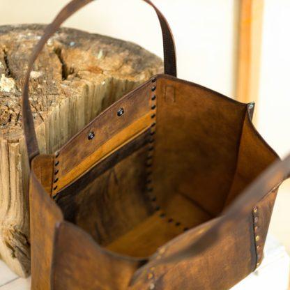 Кожаный женский шоппер, надежный шоппер, коричневая кожа, сумка-шоппер из кожи, купить шоппер, mrs.bag