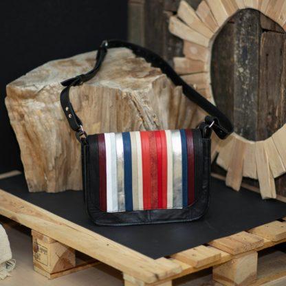 Кожаная сумка MACARON crossbody