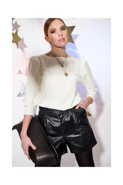 женские кожаные шорты из натуральной кожи mrsbag