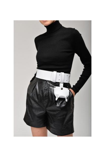 шорты пояс корсет ремень кожаный черный белый mrsbag