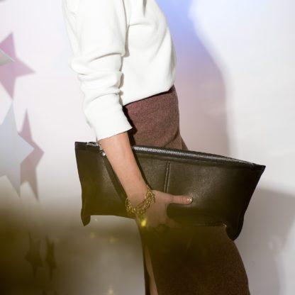 кожаный клатч CHAPO, черный клатч кожа, женский клатч, длинный клатч, клатч такса, кожаный клатч, Mrs. Bag, дизайнерский клатч, сумка, mrsbag.by